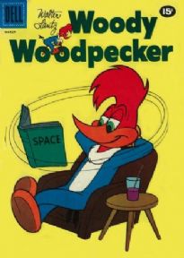Vintage Children's magazine cover poster - Woody Woodpecker